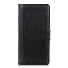 Leather Case Stands Flip Cover L02 Holder for Alcatel 1S (2019) Black