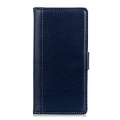 Leather Case Stands Flip Cover L02 Holder for Alcatel 1S (2019) Blue