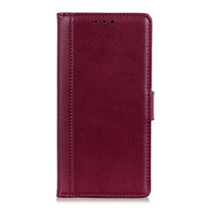 Leather Case Stands Flip Cover L02 Holder for Alcatel 1S (2019) Red