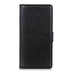 Leather Case Stands Flip Cover L02 Holder for Alcatel 1X (2019) Black