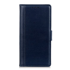 Leather Case Stands Flip Cover L02 Holder for Alcatel 1X (2019) Blue