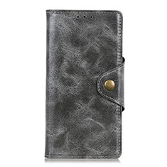 Leather Case Stands Flip Cover L02 Holder for Alcatel 3 (2019) Gray