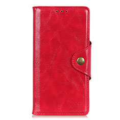 Leather Case Stands Flip Cover L02 Holder for Alcatel 3 (2019) Red