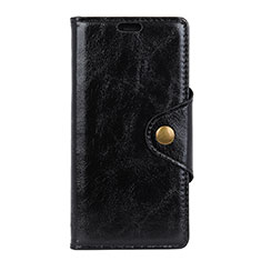 Leather Case Stands Flip Cover L02 Holder for Alcatel 3 Black