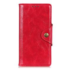 Leather Case Stands Flip Cover L02 Holder for Alcatel 3L Red