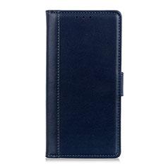 Leather Case Stands Flip Cover L02 Holder for Alcatel 3X Blue
