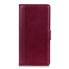 Leather Case Stands Flip Cover L02 Holder for Alcatel 3X Red