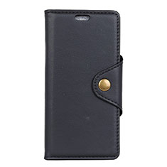 Leather Case Stands Flip Cover L02 Holder for Alcatel 7 Black