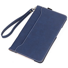 Leather Case Stands Flip Cover L02 Holder for Amazon Kindle 6 inch Blue