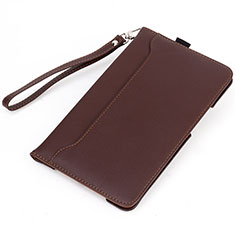 Leather Case Stands Flip Cover L02 Holder for Amazon Kindle 6 inch Brown