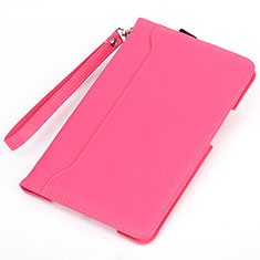 Leather Case Stands Flip Cover L02 Holder for Amazon Kindle 6 inch Hot Pink