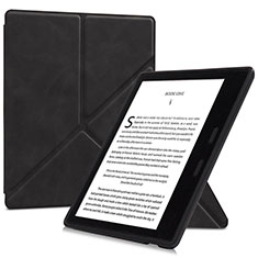 Leather Case Stands Flip Cover L02 Holder for Amazon Kindle Oasis 7 inch Black