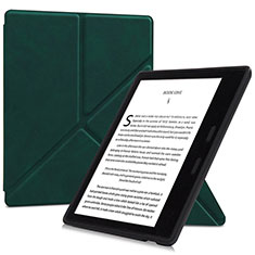 Leather Case Stands Flip Cover L02 Holder for Amazon Kindle Oasis 7 inch Green