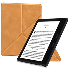 Leather Case Stands Flip Cover L02 Holder for Amazon Kindle Oasis 7 inch Orange