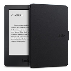 Leather Case Stands Flip Cover L02 Holder for Amazon Kindle Paperwhite 6 inch Black