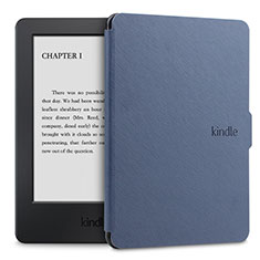 Leather Case Stands Flip Cover L02 Holder for Amazon Kindle Paperwhite 6 inch Blue