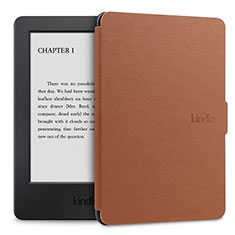 Leather Case Stands Flip Cover L02 Holder for Amazon Kindle Paperwhite 6 inch Brown