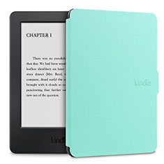 Leather Case Stands Flip Cover L02 Holder for Amazon Kindle Paperwhite 6 inch Green