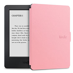 Leather Case Stands Flip Cover L02 Holder for Amazon Kindle Paperwhite 6 inch Pink