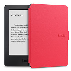 Leather Case Stands Flip Cover L02 Holder for Amazon Kindle Paperwhite 6 inch Red