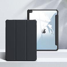 Leather Case Stands Flip Cover L02 Holder for Apple iPad 10.2 (2020) Black