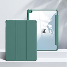 Leather Case Stands Flip Cover L02 Holder for Apple iPad 10.2 (2020) Green