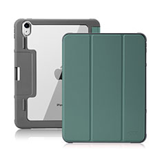 Leather Case Stands Flip Cover L02 Holder for Apple iPad Air 10.9 (2020) Midnight Green