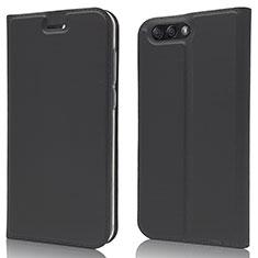 Leather Case Stands Flip Cover L02 Holder for Asus Zenfone 4 ZE554KL Black