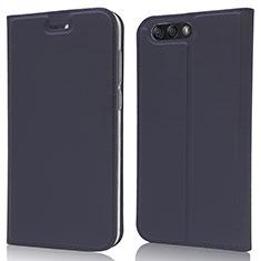 Leather Case Stands Flip Cover L02 Holder for Asus Zenfone 4 ZE554KL Blue