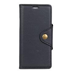 Leather Case Stands Flip Cover L02 Holder for Asus ZenFone Live L1 ZA551KL Black