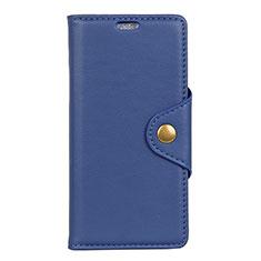 Leather Case Stands Flip Cover L02 Holder for Asus Zenfone Max Pro M1 ZB601KL Blue
