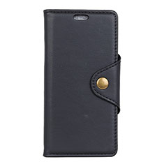 Leather Case Stands Flip Cover L02 Holder for Asus Zenfone Max ZB555KL Black