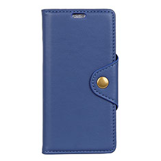 Leather Case Stands Flip Cover L02 Holder for Asus Zenfone Max ZB555KL Blue