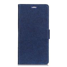 Leather Case Stands Flip Cover L02 Holder for Asus ZenFone V Live Blue