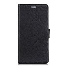 Leather Case Stands Flip Cover L02 Holder for Asus ZenFone V500KL Black