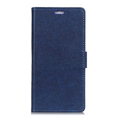 Leather Case Stands Flip Cover L02 Holder for Asus ZenFone V500KL Blue