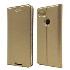 Leather Case Stands Flip Cover L02 Holder for Google Pixel 3 Gold
