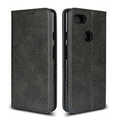 Leather Case Stands Flip Cover L02 Holder for Google Pixel 3 XL Black
