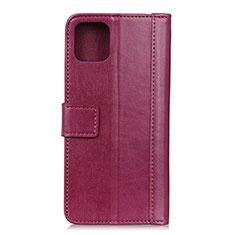Leather Case Stands Flip Cover L02 Holder for Google Pixel 4 Red