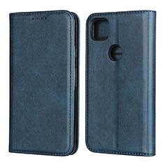 Leather Case Stands Flip Cover L02 Holder for Google Pixel 4a Blue