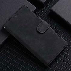 Leather Case Stands Flip Cover L02 Holder for Google Pixel 5 Black
