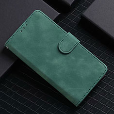 Leather Case Stands Flip Cover L02 Holder for Google Pixel 5 Green