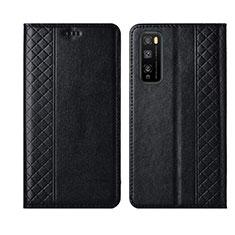 Leather Case Stands Flip Cover L02 Holder for Huawei Enjoy 20 Pro 5G Black