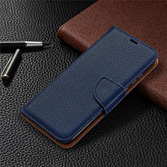 Leather Case Stands Flip Cover L02 Holder for Huawei Honor 9A Blue