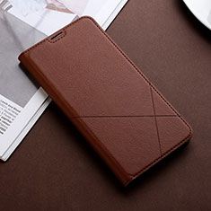 Leather Case Stands Flip Cover L02 Holder for Huawei Honor 9X Pro Brown