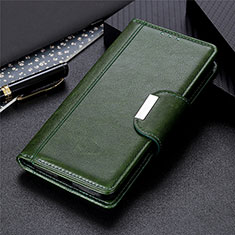 Leather Case Stands Flip Cover L02 Holder for Huawei Y5p Green