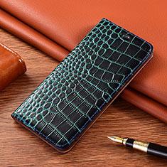 Leather Case Stands Flip Cover L02 Holder for LG K22 Blue