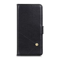 Leather Case Stands Flip Cover L02 Holder for LG K92 5G Black