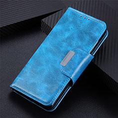 Leather Case Stands Flip Cover L02 Holder for LG Q52 Sky Blue