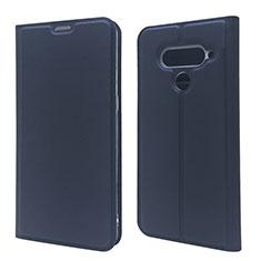 Leather Case Stands Flip Cover L02 Holder for LG V50 ThinQ 5G Blue